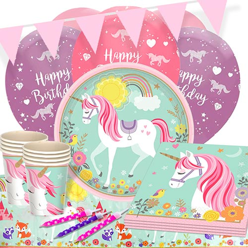 Magical Unicorn 16 Person Deluxe Party Pack