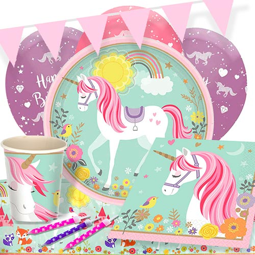Magical Unicorn 8 Person Deluxe Party Pack