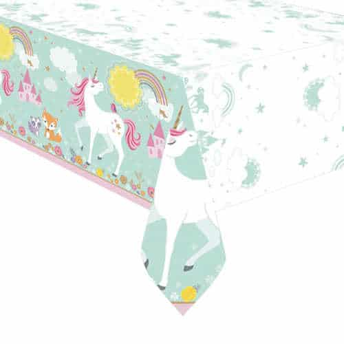 Magical Unicorn Plastic Tablecover 243cm x 137cm