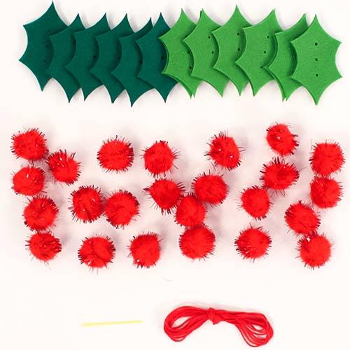 Make Your Own Felt Christmas Pom Pom Garland Kit Product Image
