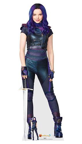 Mal Disney Descendants 3 Lifesize Cardboard Cutout 174cm