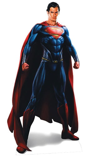 Man Of Steel Superman Lifesize Cardboard Cutout - 188cm