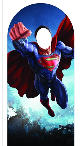 Man Of Steel Superman Flying Lifesize Stand In Cardboard Cutout - 185cm