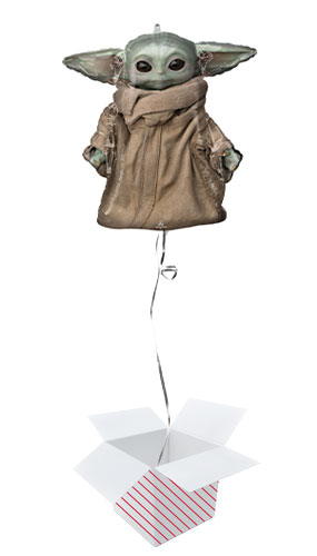 Mandalorian The Child Star Wars Helium Foil Giant Balloon - Inflated Balloon in a Box Product Image