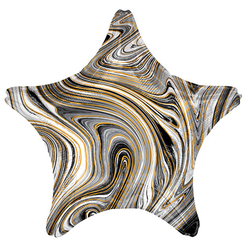 Marblez Black Star Shape Foil Helium Balloon 48cm / 19 in Product Image