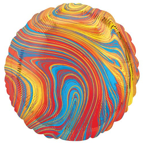 Marblez Colourful Round Foil Helium Balloon 43cm / 17 in