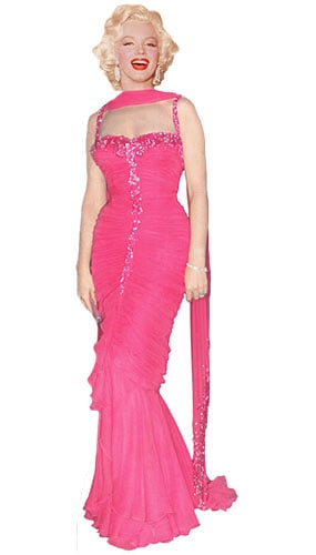 Marilyn Monroe Pink Evening Gown Lifesize Cardboard Cutout - 181cm Product Image