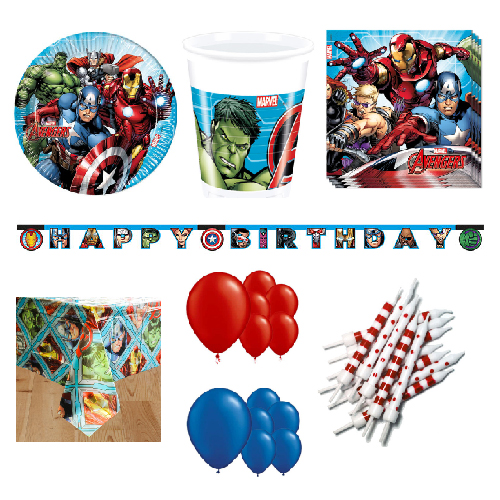 Marvel Avengers 16 Person Deluxe Party Pack