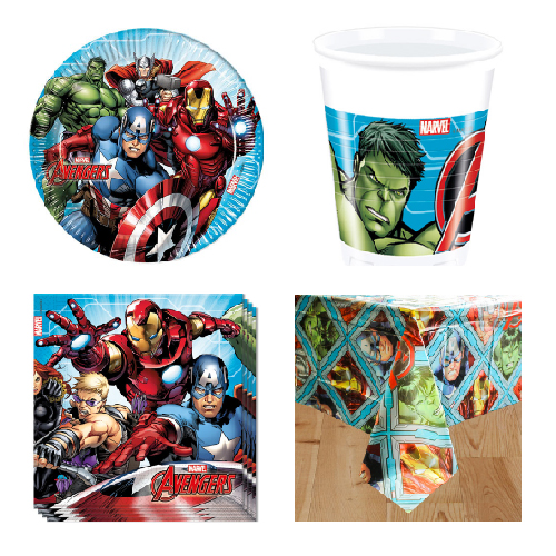 Marvel Avengers 8 Person Value Party Pack