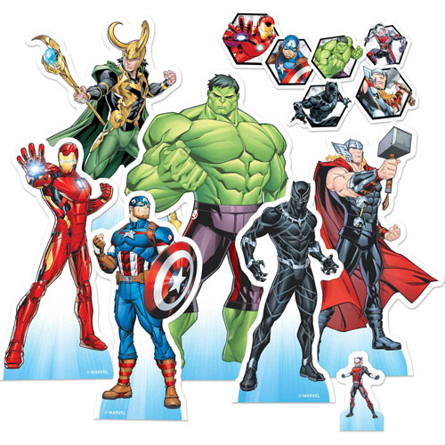 Marvel Avengers Animation Table Top Cutout Decorations - Pack of 7