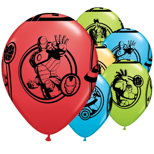 Marvel Avengers Assorted Latex Helium Qualatex Balloons 28cm / 11 in - Pack of 25
