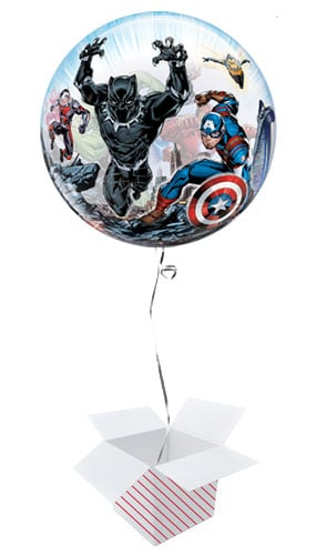Marvel Avengers Bubble Helium Qualatex Balloon - Inflated Balloon in a Box Product Image