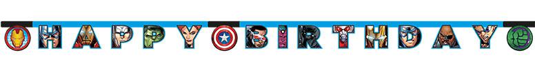 Marvel Avengers Happy Birthday Cardboard Letter Banner 200cm Product Image