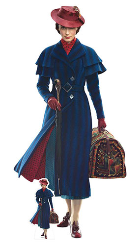 Mary Poppins Emily Blunt Lifesize Cardboard Cutout 187cm Product Image