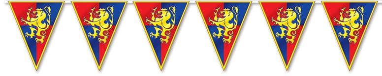 Medieval Plastic Pennant Banner – 12 Ft / 366cm