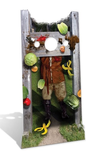 Medieval Stocks Stand In Cardboard Cutout - 186cm Product Image
