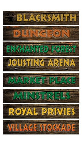 Medieval Sign Decorations - 61cm - Pack of 8