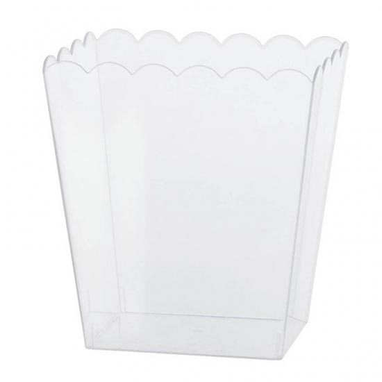 Medium Size Clear Scalloped Container - 6 Inches / 15cm