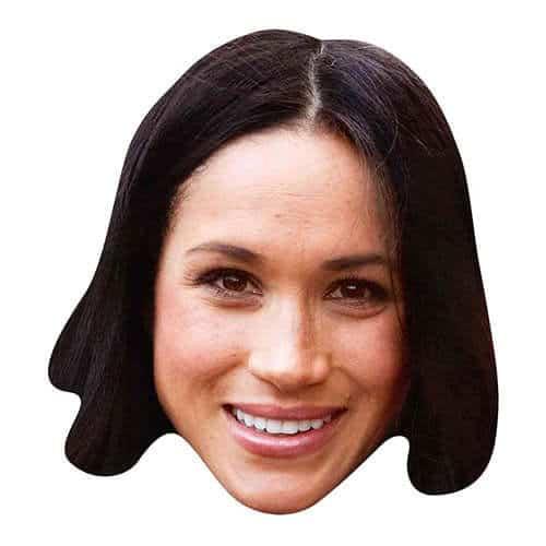 Meghan Markle Smiling Cardboard Face Mask