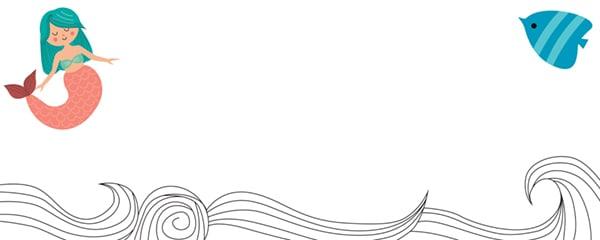 Mermaid Design Large Personalised Banner - 10ft x 4ft