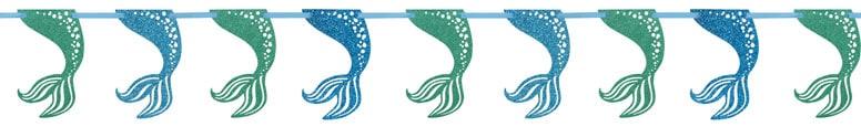 Mermaid Glitter Garland Decoration 274cm Product Image