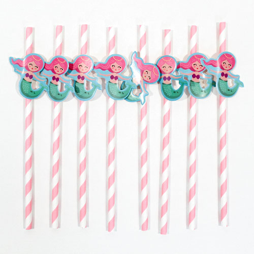 Mermaid Novelty Paper Straws - Pack of 20