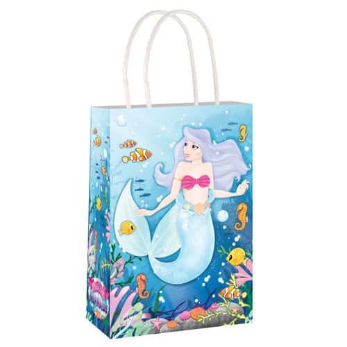 Mermaid Paper Bag With Handles 21cm
