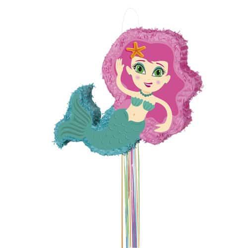 Mermaid Pull String Pinata
