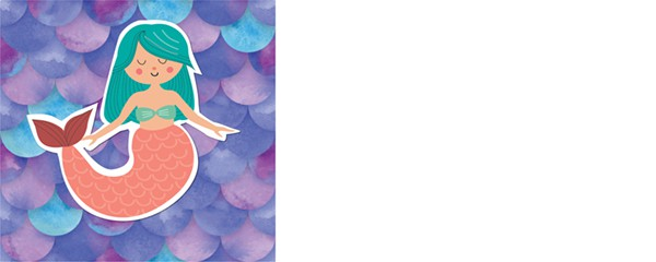 Mermaid Scales Design Small Personalised Banner - 4ft x 2ft