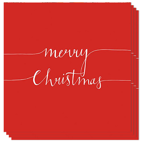 Merry Christmas Luncheon Napkins 3Ply 33cm - Pack of 20
