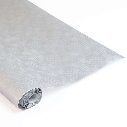 Metallic Silver Paper Banquet Roll - 8m x 1.2m Product Image