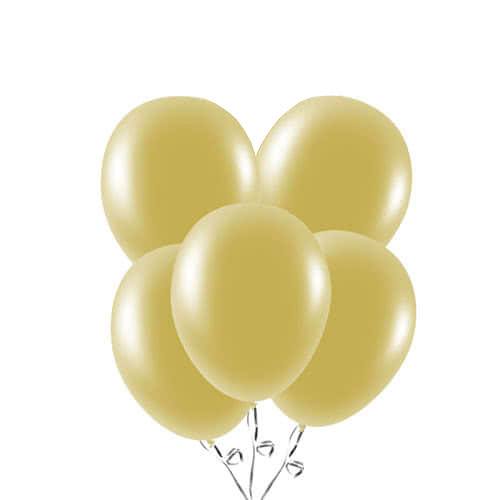 Metallic Gold Biodegradable Latex Balloons 23cm / 9 in - Pack of 20 Bundle Product Image