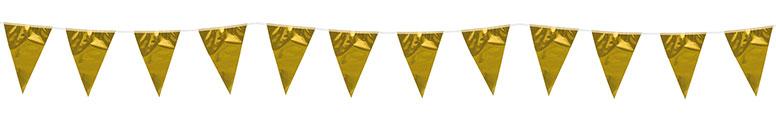 Metallic Gold Foil Pennant Bunting 10m Bundle Product Image
