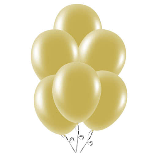 Metallic Gold Latex Balloons 23cm / 9Inch - Pack of 30 Product Image