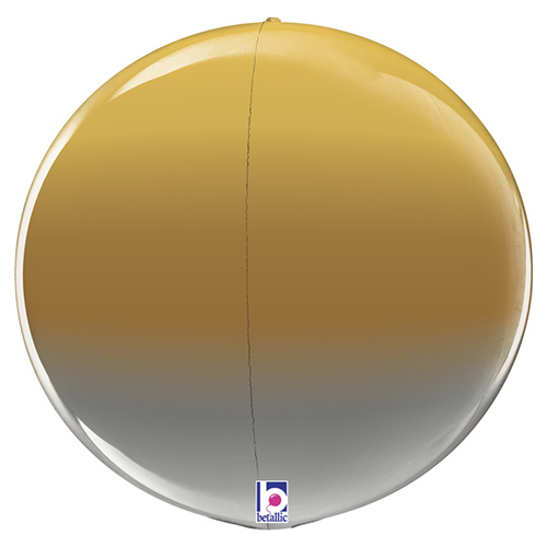 Metallic Gold Ombre 4D Globe Foil Helium Balloon 38cm / 15 in Product Image