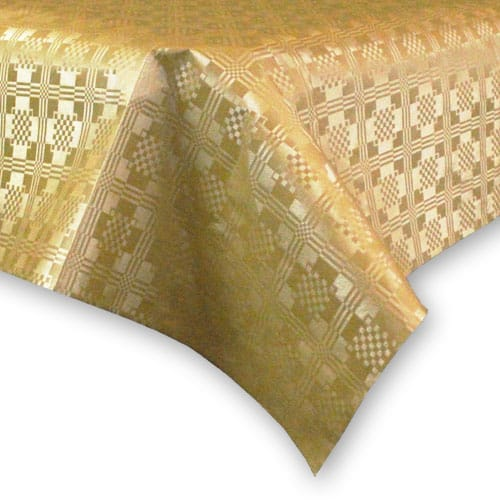 Metallic Gold Paper Tablecover - 90cm x 88cm