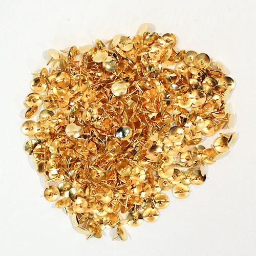 Metallic Golden Drawing Pins - Pack of 300