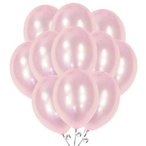 Metallic Pink Biodegradable Latex Balloons 30cm / 12 in - Pack of 50 Product Image
