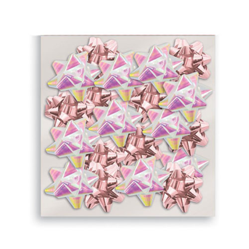 Metallic Rose Gold & Iridescent Christmas Gift Bows - Pack of 20 Product Image