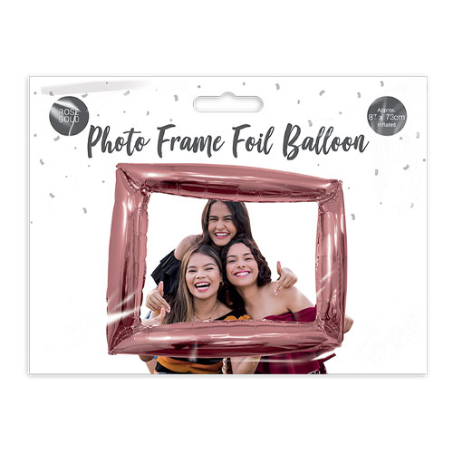 Metallic Rose Gold Photo Frame Air Fill Giant Foil Balloon 87cm / 34 in Product Image