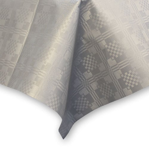 Metallic Silver Paper Tablecover - 90cm x 88cm Product Image