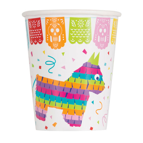 Mexican Fiesta Paper Cups 270ml - Pack of 8