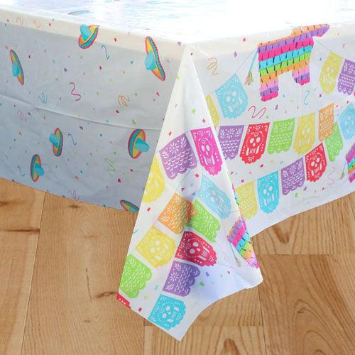 Mexican Fiesta Plastic Tablecover 213cm x 137cm
