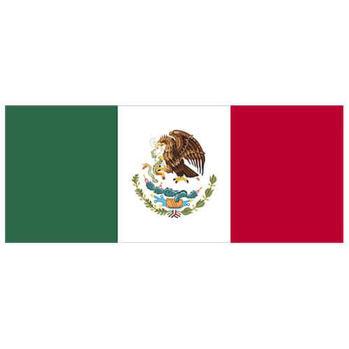Mexico Flag PVC Party Sign Decoration 60cm x 24cm Product Image