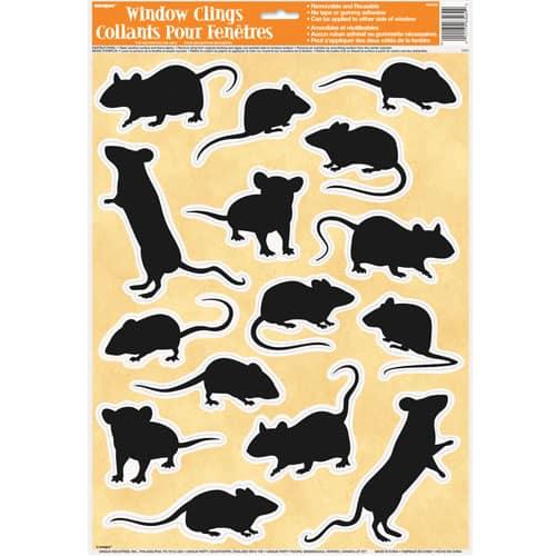 Mice Window Cling Sheet Decorations