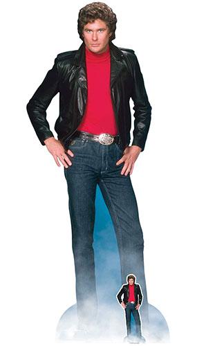 Michael Knight David Hasselhoff Knight Rider Lifesize Cardboard Cutout 190cm Product Image