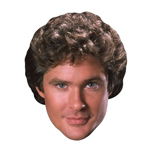 Michael Knight Rider David Hasselhoff Cardboard Face Mask Product Image