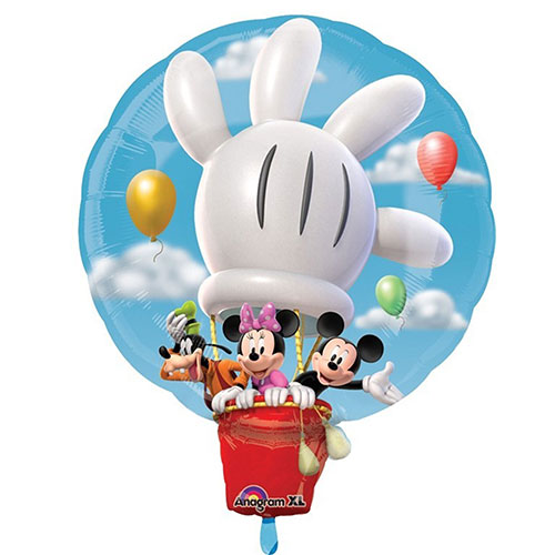 Mickey Hot Air Balloon Helium Foil Giant Balloon 58cm / 23 in Product Image