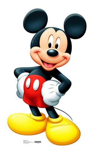 Mickey Mouse Lifesize Cardboard Cutout - 107cm Product Image