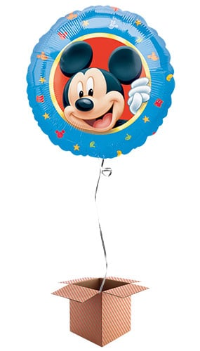 Mickey Mouse Round Foil Balloon - Inflated Balloon in a Box Product Image